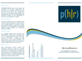 Historia Research Brochure | First Step | Front